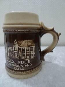 Rda-DDR-FDGB-Kreisvorstand-Calau-Ceramica-Jarra-Vintage-Recuerdo-Anuncio