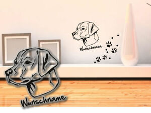 Wandtattoo Labrador Retriever H267 Hundepfoten Wunschname Tatze Ebay