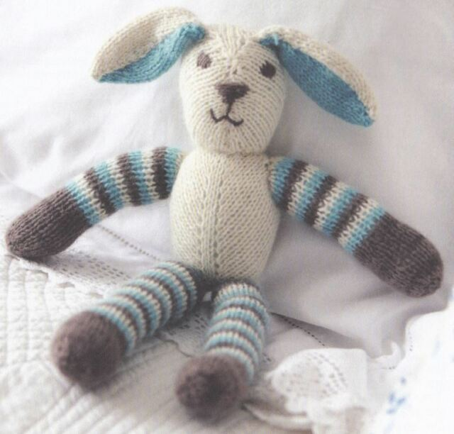 Knitting Pattern for Lovely Floppy Ear Bunny Rabbit Toy | eBay