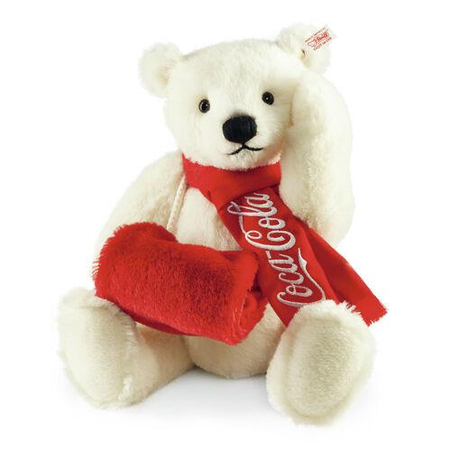 Steiff Edizione Limitata Coca Cola Orso Polare EAN 355301 38cm + scatola Alpaca Nuovo