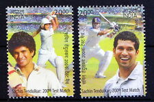 India MNH 2v, Sachin Tendulkar, Cricket, Sports -F1