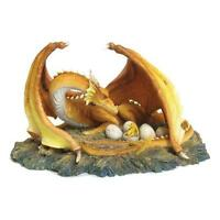 The Brood Dragon, ornamental orange dragon guarding egss by Nemesis Now NEM4151