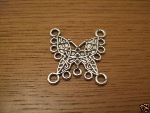 Tibetan silver butterfly connectors 26mm x10 earrings necklace B06 UK SELLER