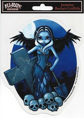 GRAVE DIGGER FAIRY Faery Sticker Car Decal Jasmine Becket-Griffith Strangeling