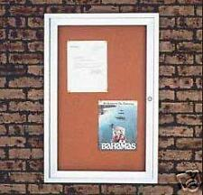 Enclosed 24x36 Cork Directory Bulletin Boards For Outdoor Use