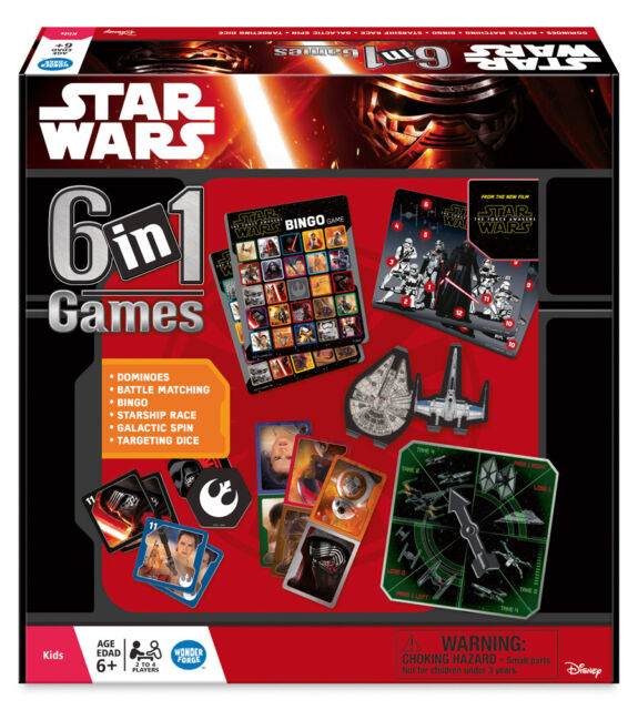 STAR WARS THE FORCE AWAKENS EPISODE VII 6 IN 1 RAVENSBURGER GAME SET 2-4 PLAYERS