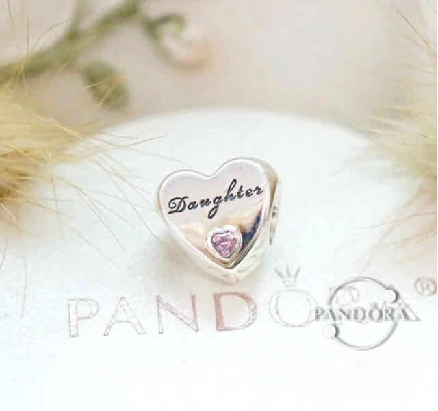 d8e1a9762 Authentic Pandora Sterling Silver Daughter's Love Charm Pinck CZ 791726PCZ