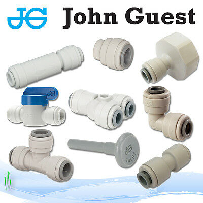10x John Guest 3//8 Male X1//4 Female Push Fit Shut Off Tap Job Lot