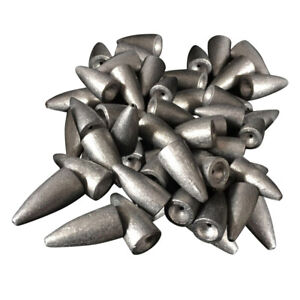 50pcs-Conical-Shaped-Weights-Lead-Sinkers-Sea-Fishing-Fast-Sinker-Tackle