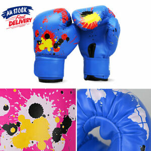 Baby Girls Children Boxing Gloves Punch Training Fight Mitts Grappling Gloves