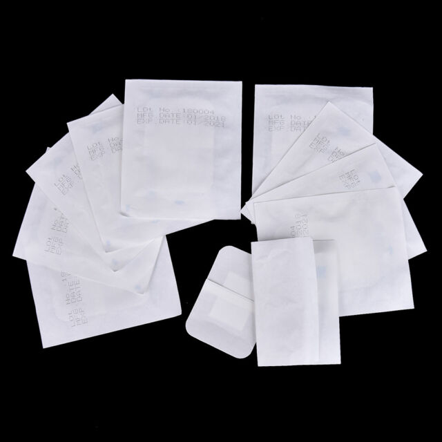 10pcs 6x7cm Waterproof Medical Adhesive Wound Dressing Band Aid Bandage NJ