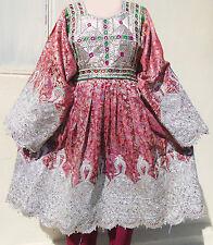 Afghan Banjara Tribal Boho Hippy Vintage Handmade Multicolored Kuchi Dress UD-01