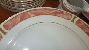 Fine China Dinnerware Marble Rose SANGO Mayesty China Service for 8 49 pc EUC