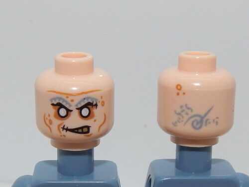 Lego Minifigure Head Pirates Of The Caribbean Quartermaster Zombie H22