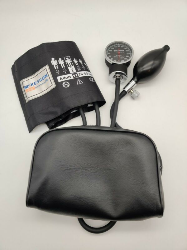 McKesson Brand Medium Cuff Arm Aneroid Sphygmomanometer with Cuff & carry case