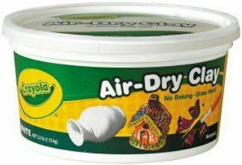 Crayola BS575050 Air Dry Clay White 2.5lb Bucket