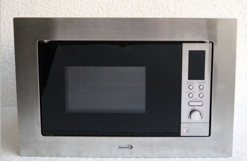 Einbau-Mikrowelle mit Grill. 20 Liter, 800 Watt, edelstahl-schwarz, 924 TOP X  UZzop