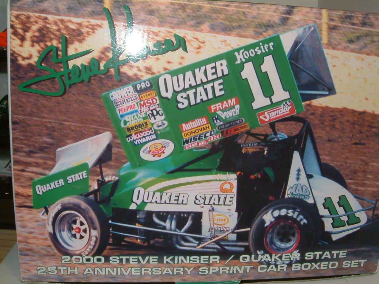 1 18 SPRINT voiture,  11 Quaker State Steve KINSER, Inc 1 64 voiture et pin badge GMP