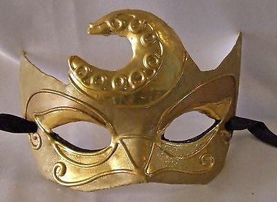 Venetian Eye Mask Swirl Top Blue with Silver Prom Mardi Gras Masquerade Costume