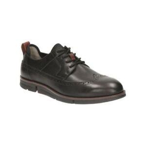 de cordones zapatos 11 100 10 Limit Rrp Menstrigen Clarks de negro castaño £ 5 cuero Uk9 HxIt7