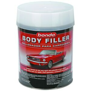 Details about Bondo Auto body Filler Repair kit Repair dents dings rust  holes scratches fiberg