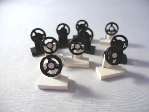 Noir et Blanc Petite Voiture roues de gouvernail x 10 3829c01