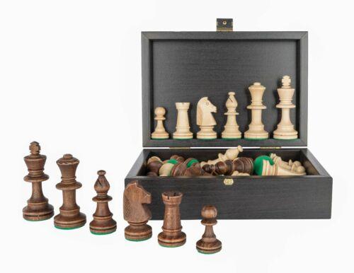 "3.5/"" King Tournament Staunton Chess Pieces in Wooden Black Box"
