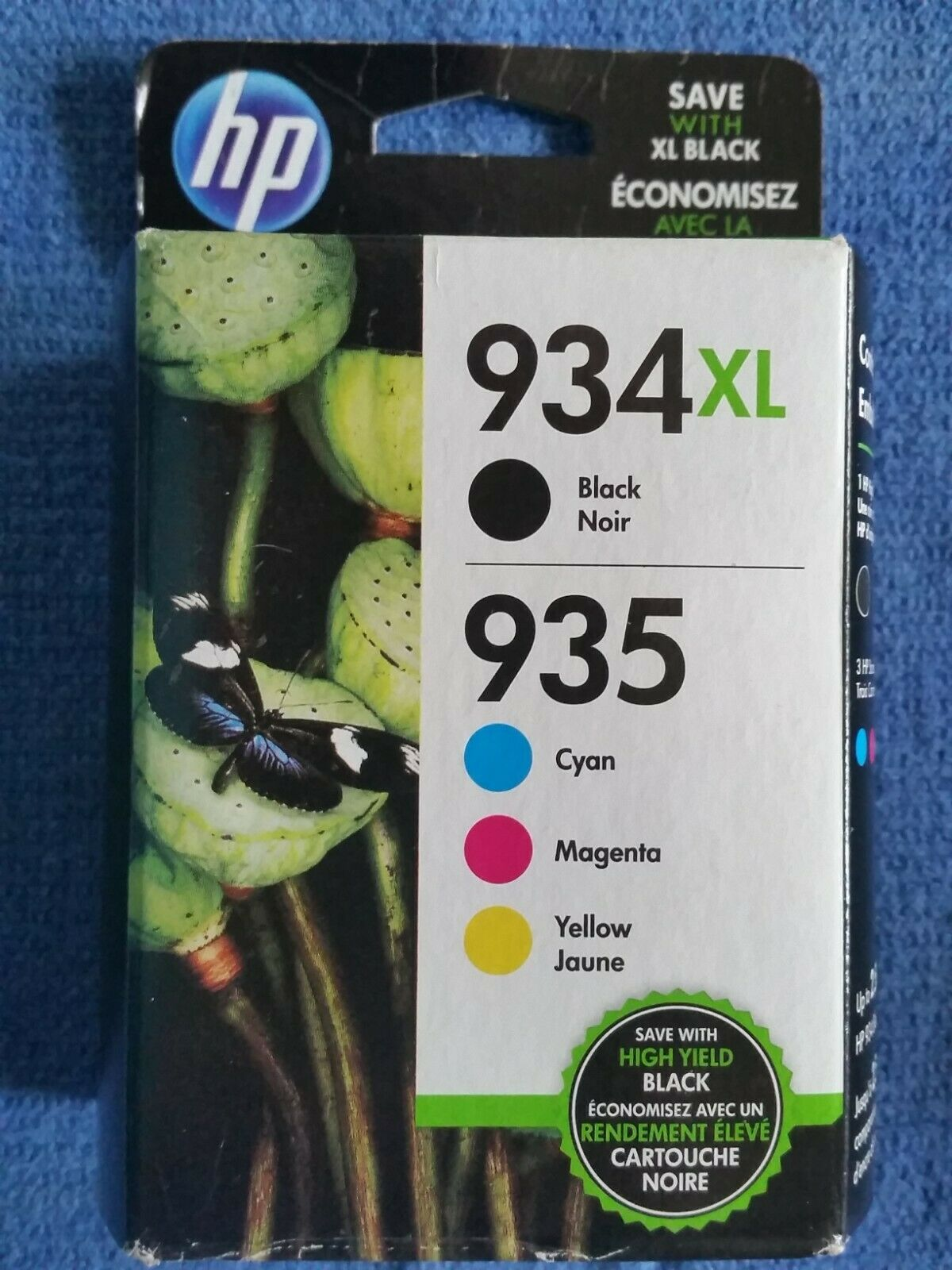 3 x Black HP 934XL and 2 x Color Set HP 935 Ink