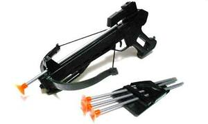 CROSSBOW TOY PISTOL GRIP SET, 4 ARROW SOFT TIP FOR KIDS - NEW - FREE TARGETS