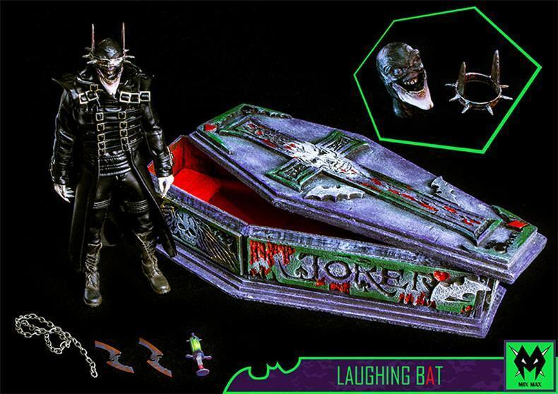 1 6 Batman figura de lujo que ríe ataúd MX Juguetes Hot riendo murciélagos Caballero de la noche