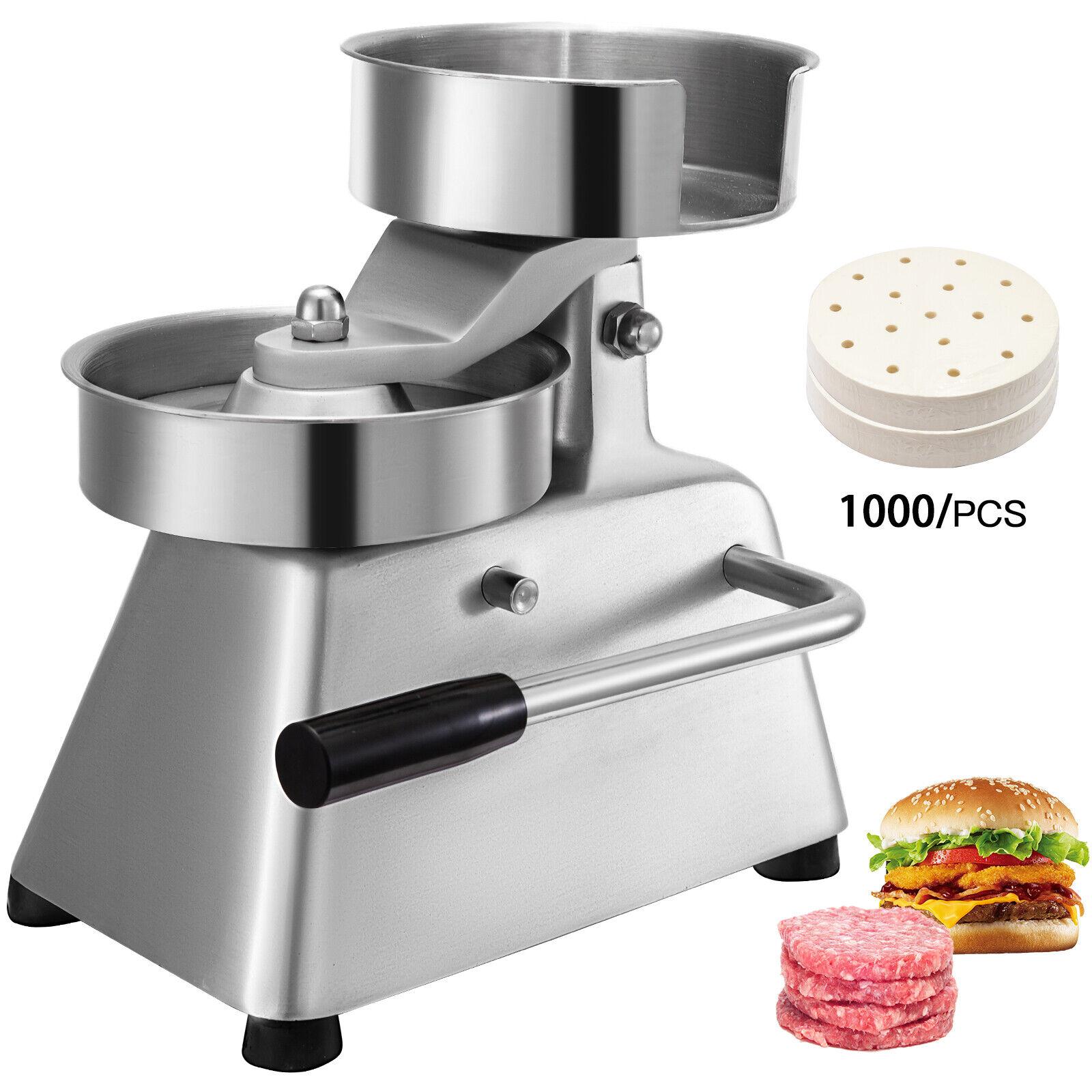 VEVOR Maquina para hamburguesa profesional prensa prensadora 1000 papel 100mm