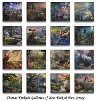 Thomas Kinkade Complete Disney Canvas Wrap Set Of 16 the Ultimate Collection