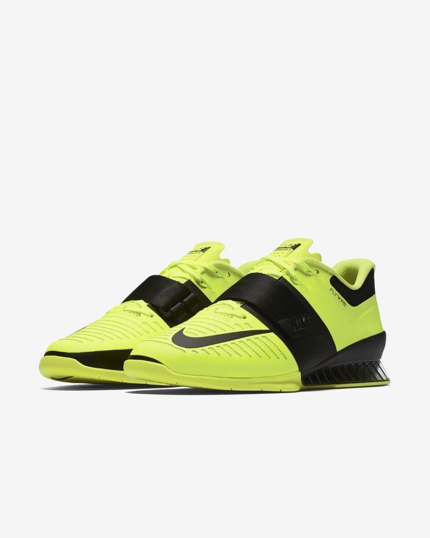 Nike romaleos 3 männer krafttraining schuhe volt / schwarze größe.