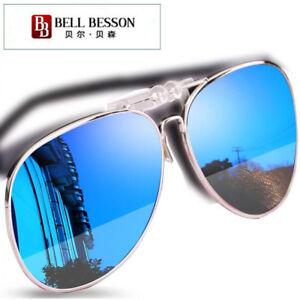 f9454794350 Image is loading Polarised-Clip-On-Flip-Style-Sunglasses-UV400-Polarized-