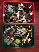 LEGO STAR WARS LOT 8 POUNDS (MEGABLOCKS, HALO, NINJAGO ETC..)WITH MINIFIGURES