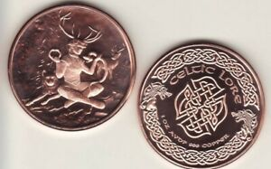 celtic lore The Morrigan 1oz Copper Round
