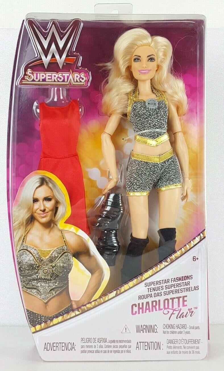 WWE Mattel Superstar 12 Inch Doll Wrestling Superstars CHARLOTTE FLAIR