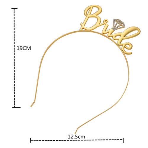 Team Bride Bridesmaid Tiara Crown Headband Hen Party Wedding Bride To Be Gift