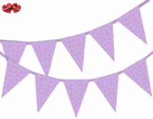 Butterflies-Pattern-Lilac-Spring-Bunting-Banner-15-flags-by-PARTY-DECOR
