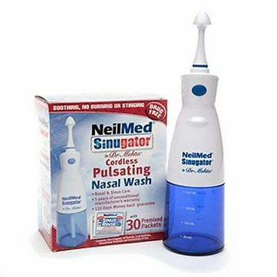 NeilMed Sinugator Cordless Pulsating Nasal Wash with 30