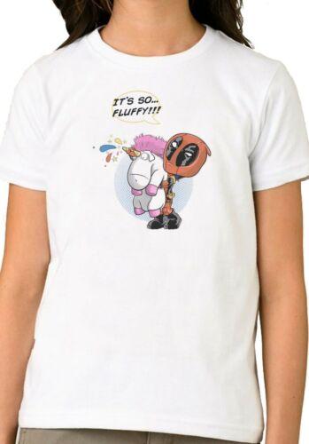 Deadpool Unicorn Rainbow It/'s So Fluffy Funny Kids Boy Girl Birthday T Shirt 195