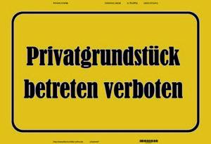 Private Land Allowed Forbidden Tin Sign Shield Metal Tin Sign 20 X 30 CM