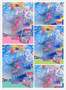 5x Bubble Guns Seifenblasenpistole LED//Sound 10 Flasche+15 Batterien=1 PREIS!