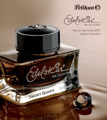 300247 Pelikan Edelstein 2017 Fountain Pen Ink of the Year Smoky Quartz Brown