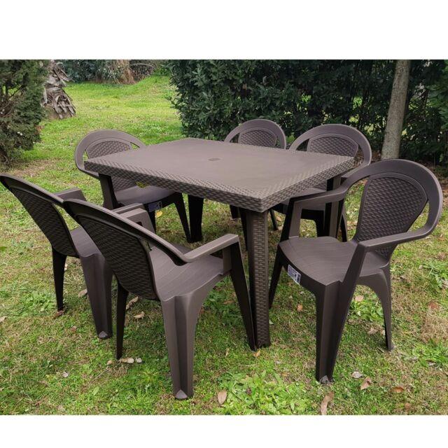 Sedie E Tavoli Da Giardino In Vimini.Set Tavolo E Sedie Da Giardino Esterno Rattan Terrazzo Balcone