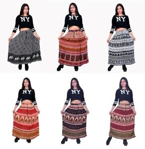 Indian-Casual-Wear-Skirts-Floral-Maxi-Skirt-Rayon-Crepe-Fabric-Skirts-For-Women