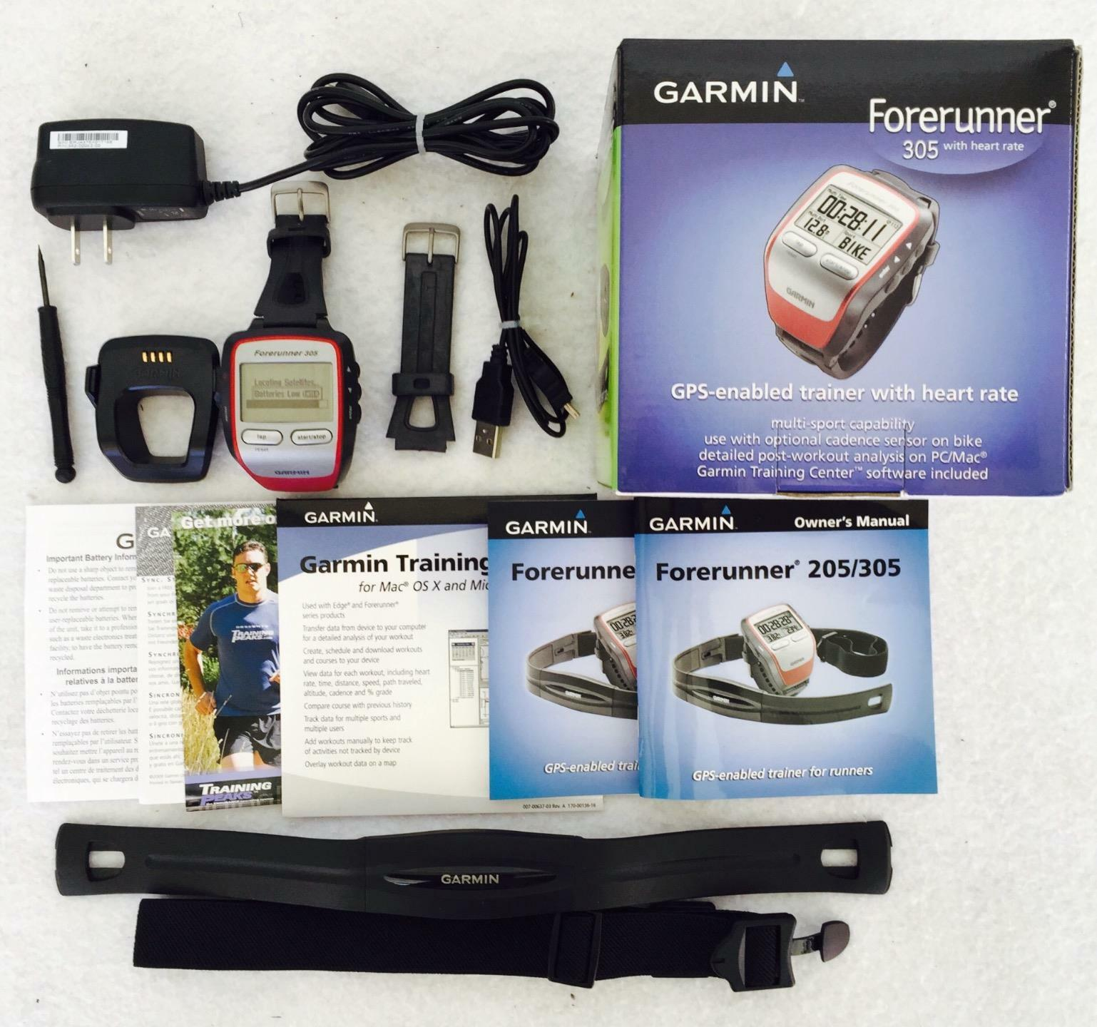 Garmin Forerunner 305 GPS-Enabled Trainer w  Heart Rate Monitor Multi-Sport