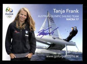 Tanja Frank Autogrammkarte Original Signiert Segeln