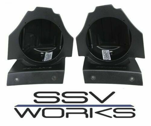 Unloaded for 15-18 Polaris Slingshot SSV Works Behind the Seat Speaker Pods