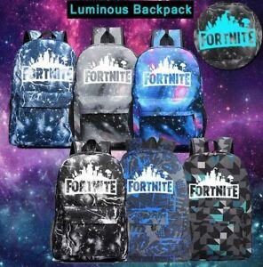 Galaxy-Thunder-Backpack-Book-Bag-Teenagers-Night-Luminous-Student-School-Bags